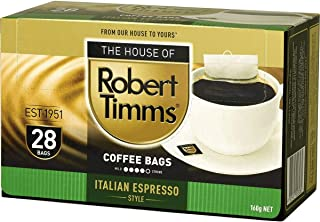 5 Pack of Robert Timms Italian Espresso Style Coffee Bags 28 Pack