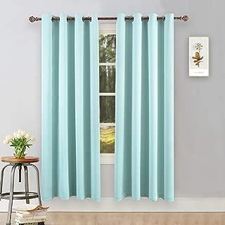 aqua color curtains