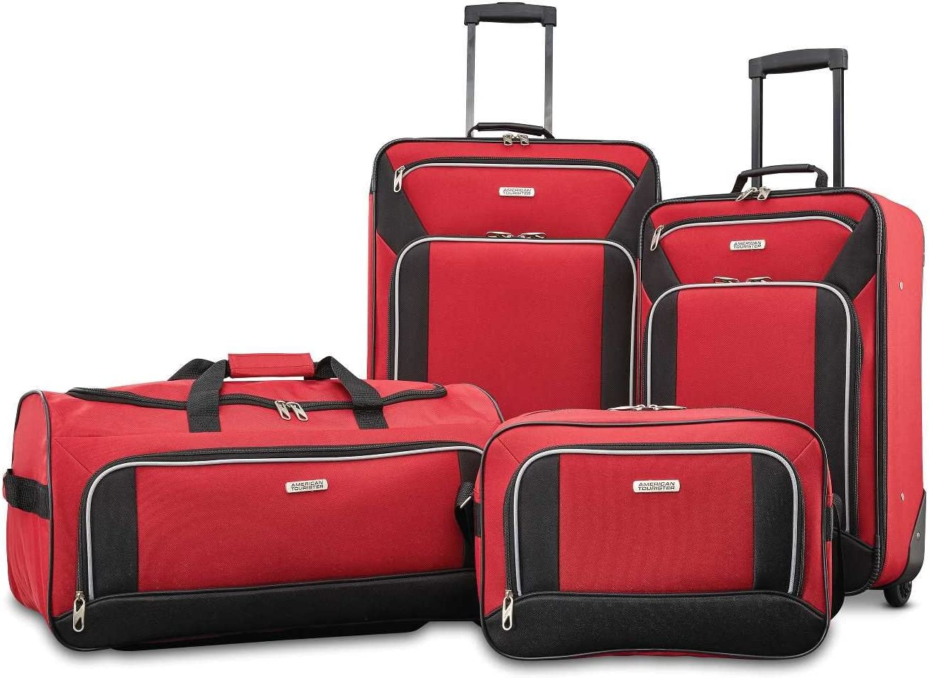 American Tourister Fieldbrook XLT Softside Red Upright Luggage Fixed price half for sale