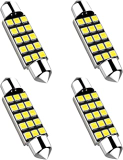 578 Led Festoon Bulbs, 42mm 41mm 1.64 Inches 15smd 212-2 DE3425 DE3423 211-1 Led Replacement Bulbs for Car Interior Dome Map Courtesy Lights, 4pcs