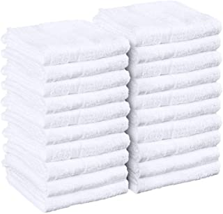 Utopia Towels White Salon Towels, Pack of 24 (Not Bleach Proof, 16 x 27 Inches) Highly..