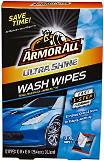 Armor All 18240 1 pack of 12 Ultra Shine Wash Wipes-12 XL Wipes