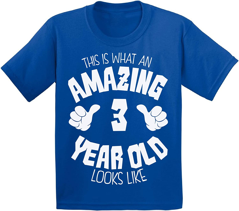 Awkward Styles Amazing 3rd Birthday T-Shirt It's My Third B-Day Toddler Shirt for Boys Girls