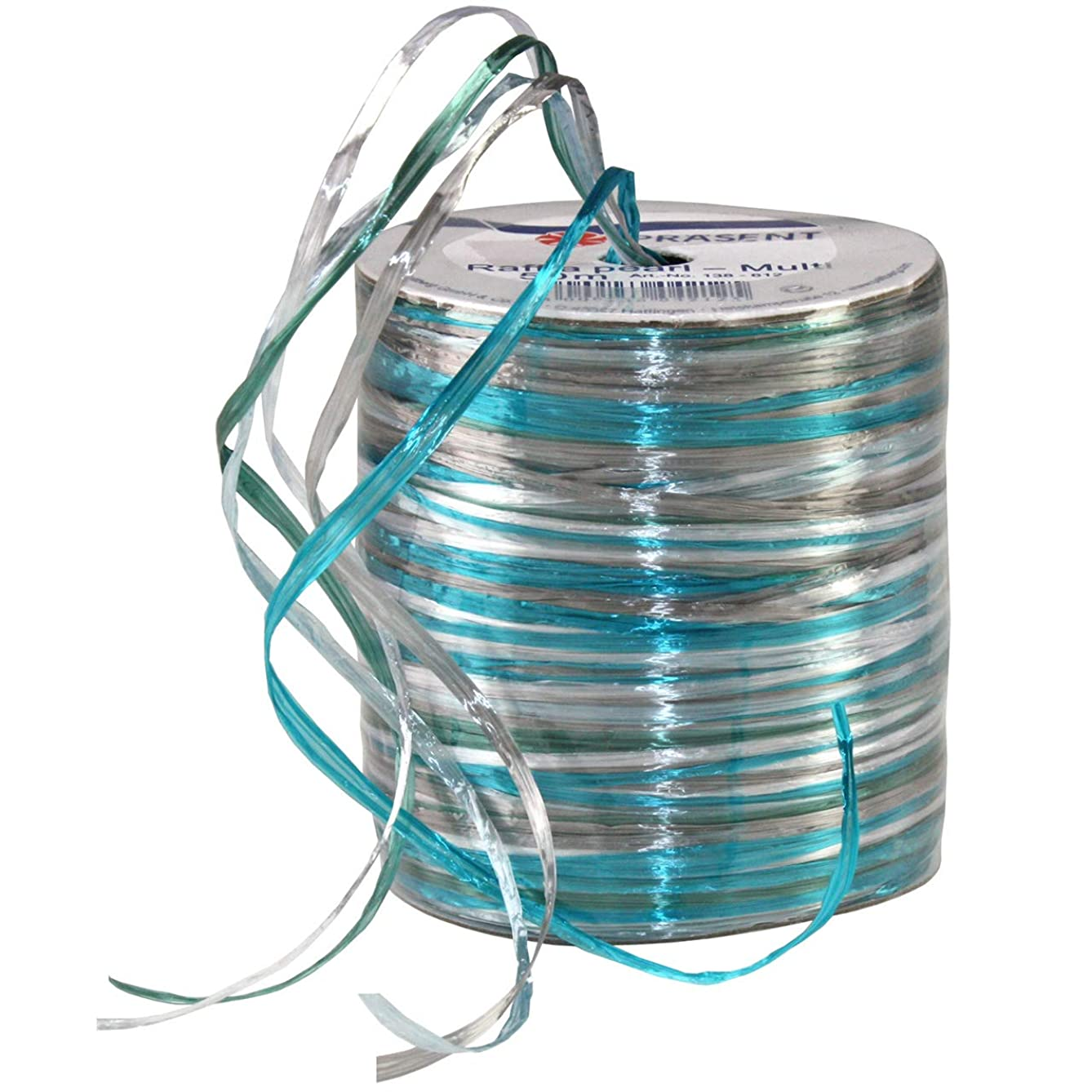 Morex Ribbon Pearl Raffia Ribbon Spool, 55-Yard, Light Blue/Turquoise