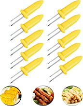 Fashionclubs Corn on the Cob Holders Set for Skewers BBQ Twin Prong Sweetcorn Holder Fork Kitchen Tool -10 pcs