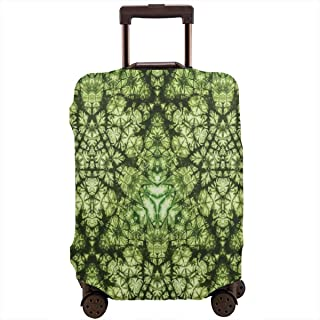 Travel Luggage Cover,Free Abstract Nature Inspired Mind Bind Folded Color Silhouette Counter Culture Artsy Suitcase Protector
