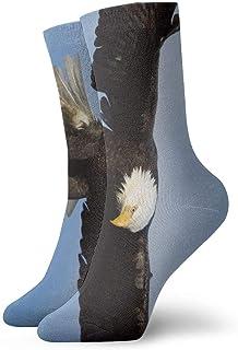 RRJJJ, N/A NA American Bald Eagle Fashion - Calcetines Cortos para Atletismo (Talla única), diseño de águila Calva