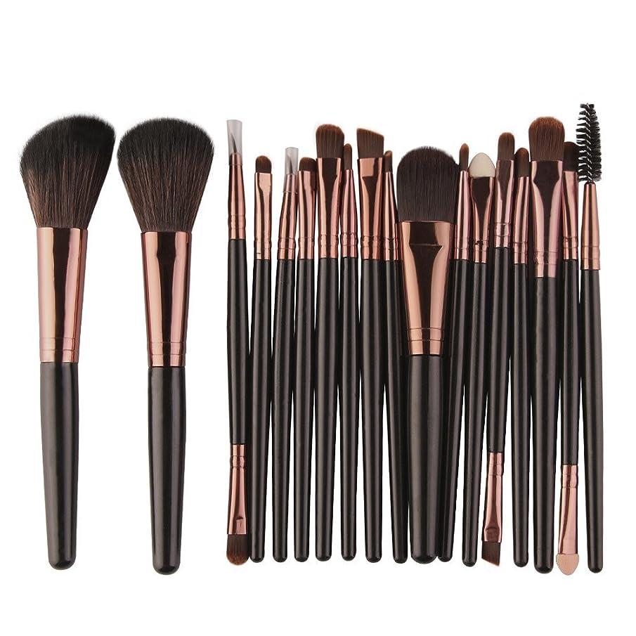 CCatyam Makeup Brushes Set, 18 pcs Foundation Eyebrow Eyeliner Blush Cosmetic Eyeshadow Wool Brushes Handle Tool Kit