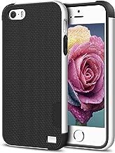 EXSEK iPhone 5/5S SE Case, Hybrid Ultra Slim 3 Color Case Shockproof [Anti-Slip] [Extra Front Raised Lip] Scratch Resistant Soft Gel Bumper Rugged Case for iPhone 5/5S (Black + White)