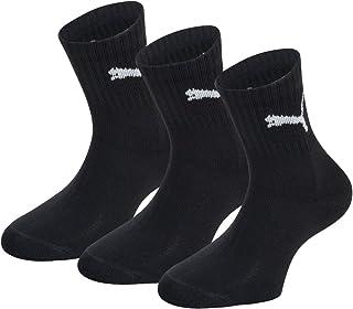 Puma Short Crew 3 Pair Socks for Men - Black