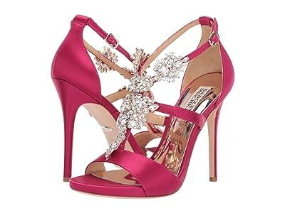 Badgley Mischka Leah (African Red Satin) High Heels
