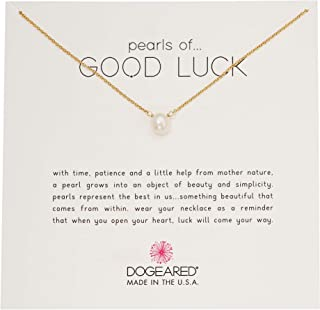 "Dogeared Gold Filled Pearls of Good Luck Small Freshwater Cultured 16"" with 2"" Ext. Necklace"