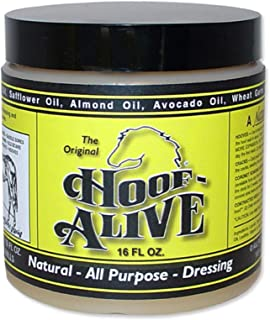 Hoof-Alive. Natural, All-Purpose Dressing Penetrates Hoof Wall and Living Tissue. Promotes Strong, Healthy Hoof Growth. Helps Heal Water and Quarter Cracks. Non-Irritating. Petroleum-Free.