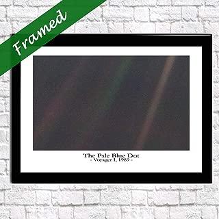 Wallbuddy The Pale Blue Dot Photo - Carl Sagan - NASA Photo - Framed Space Decor (WBF029) (8 x 10)