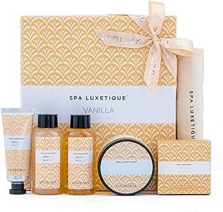 Spa Luxetique Coffret Cadeau Voyage Pour Femme- Coffrets de Bain et de Soin, 6pcs Coffret de Bain Vanille, Compris Crème p...