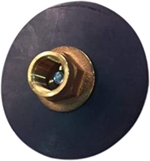 Galapagoz Force Curb Plunger Reinforced Heavy Duty Brass Rubber Fitting Fits 0.5 Inch Pipe US 4 inch