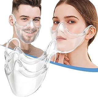 Feelcrag Reusable Clear Face Msaks, Durable Combine Plastic Face Schild, Easy to Clean,Protect Makeup (Transparent-1PCS)