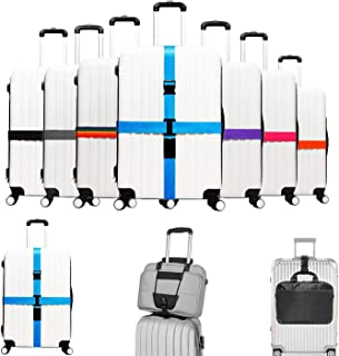 Gaosaili 4 Pack Luggage Straps Suitcase Belts Travel Bag Accessories for Your Travel,Beautiful Rainbow Color
