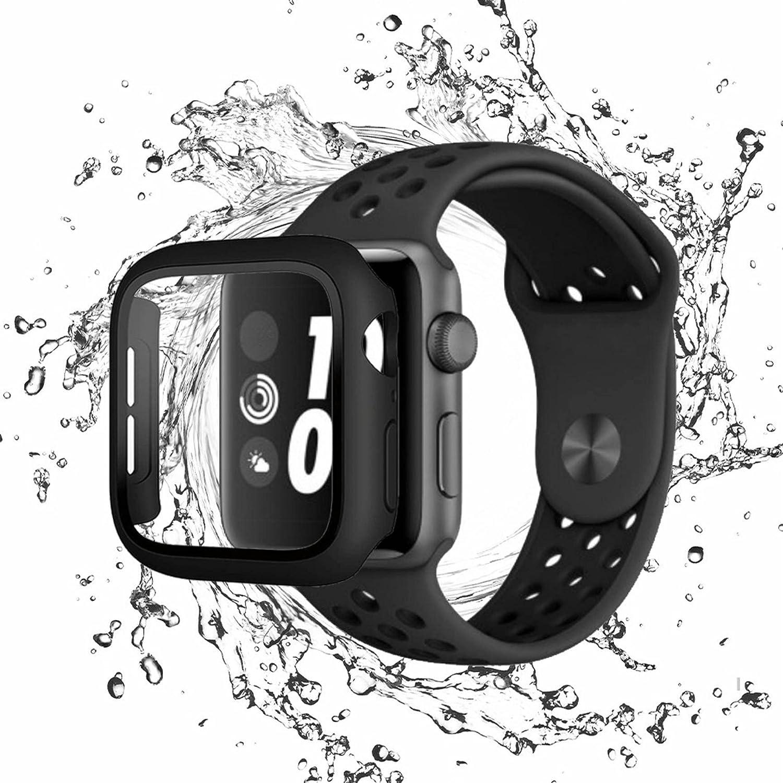 piiui case for Apple Watch 6 Series SE Series 5 Series 4 with Screen Protector ip65 Waterproof scratchproof and dustproof-44mm