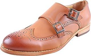 Urban Fox Allen Men's Dress Shoe | Double Monk Strap | Brogue | Wingtip Shoes for Men