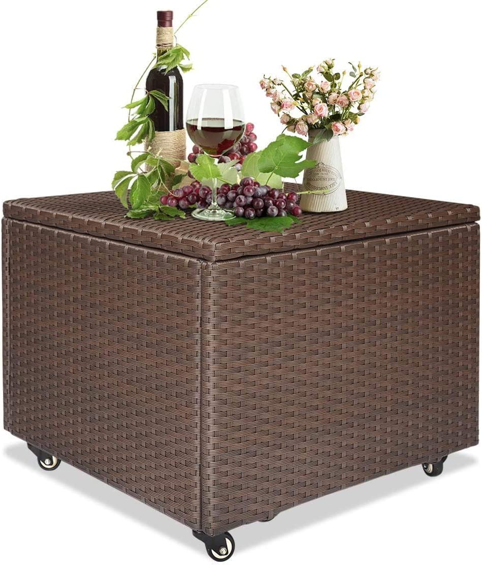 Outdoor Patio Wicker Rare National products Storage Container Antirust Box made Deck of
