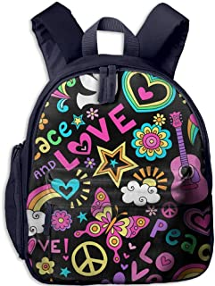 Pinta Love and Peace Cub Cool School Book Bag Backpacks for Girl's Boy's