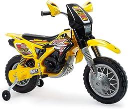 INJUSA - Moto Cross Thunder Max a Batería 12V con Acelerador en Puño y Bandas de Goma en las Ruedas Recomendada a Niños +3 Años
