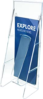 Deflecto Stand Tall Stand-Tall Wall Leaflet Holder, Wall Mount Display, Break-Resistant Pocket, Clear, 4-9/16