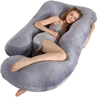 MUMO Pregnancy Pillow, U Shaped Full Body Maternity Pillow, Extra Large Sleeping Support Pillow with Removable Cover for P...