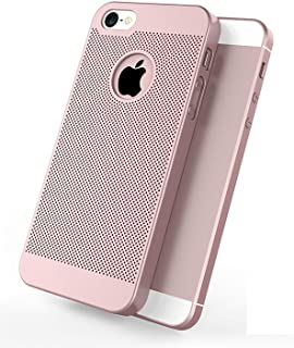 iPhone 5/5S/SE Case Ultra Slim/Thin Lightweight Breathable Cooling Mesh Case,Protection Cover for iPhone 5/5S/SE(Pink) …