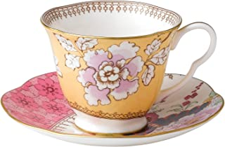 Wedgwood Harlequin Butterfly Bloom Floral Bouquet Cup and Saucer Set