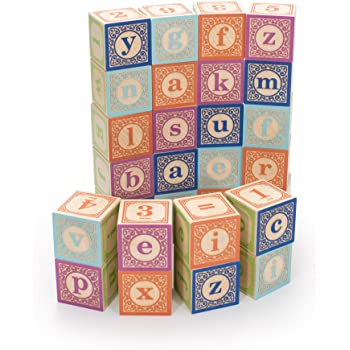 Uncle Goose Classic Lowercase ABC Blocks - Made in The USA