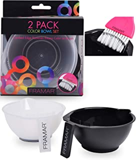 Framar Color Bowl with Brush Cleaner Set - Mixing Bowls - For Hair Color, Hair Bleach, Hair Dye, Coloring - Coloring Set -...