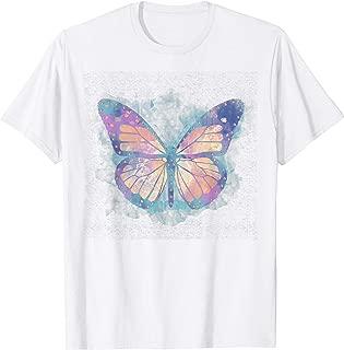 Watercolor Monarch Butterfly Gold Foil Texture T-Shirt