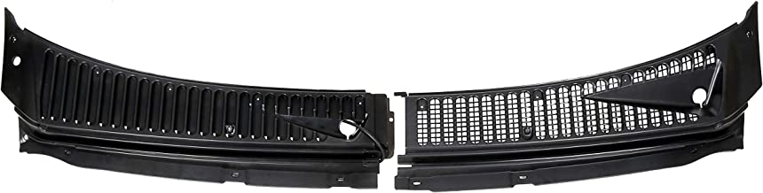 ECOTRIC 2 Pieces(Driver&Passenger Side) 1999-2007Ford F250 F350 Windshield Wiper Cowl Vent Grille Cover Panels Kit Direct Aftermarket Replacement for Part 3C3Z-25022A68-AAA & 4C3Z-25022A69-AAA