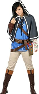 Xcoser Link Costume Cloak & Tunic & Shirt & Pants & Belt Outfit for Teens Halloween