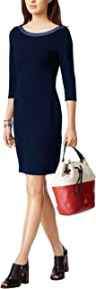 Tommy Hilfiger Ladies Nautical Scoop Neck 3/4 Sleeve Jersey Dress