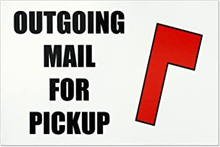 Proper Wolf Outgoing Mail for Pickup Magnet – Magnetic Mailbox Flag Replacement – Size 4x6