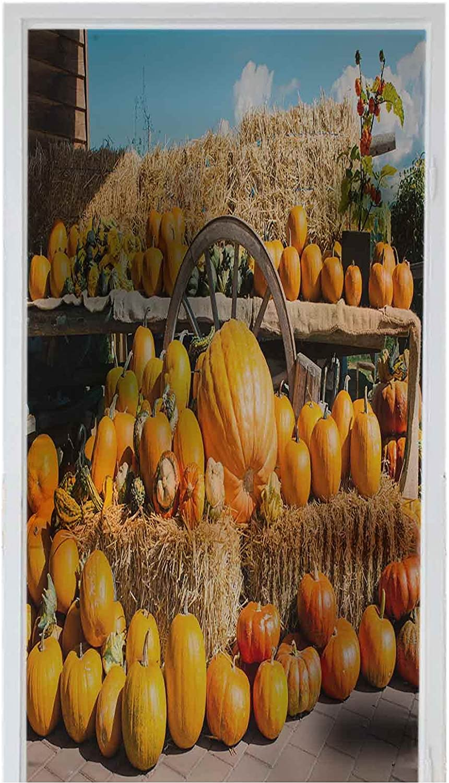 LCGGDB Window Film PVC Home Removable Max 69% OFF Autumn Rustic Super intense SALE Decoration A