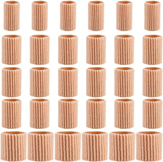 Madholly 30 Pieces Toe Cushion Tube- 3 Different Size Toe Tubes Sleeves 0.75'' Long Fabric Gel Lined Sleeve Protectors for...