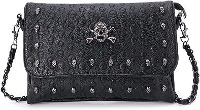 Dabixx vrouwen handtas klinknagel gotische schedel...