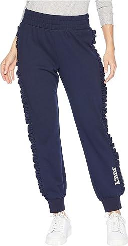 Mini Juicy Logo Ruffle Terry Pants