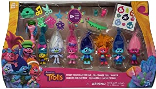 D W The DreamWorks Trolls Stylin' Troll Collection Pack, Multicolor