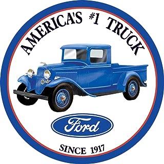Desperate Enterprises Ford - Trucks Round Tin Sign, 11.75