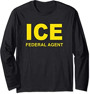 ICE Federal Agent US Border Patrol Costume For Boys Long Sleeve T-Shirt