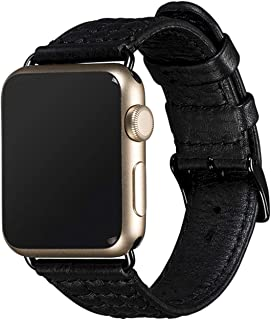 Sena Isa Genuine Leather Apple Watch Strap - Quilted Band for Smartwatch - Fits 38/40 mm, Black