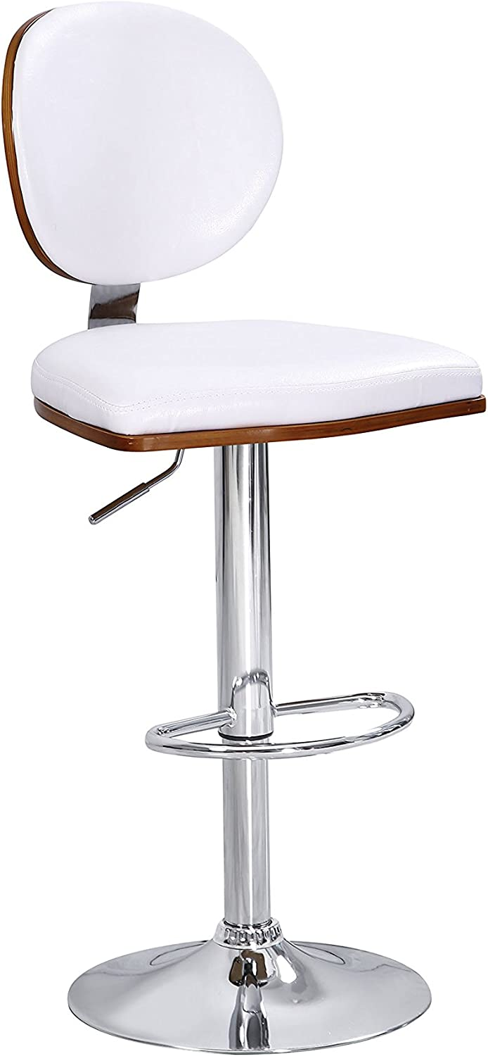 ACME Furniture 96532 Javon Adjustable Stool with Swivel (Set of 2), White and Chrome