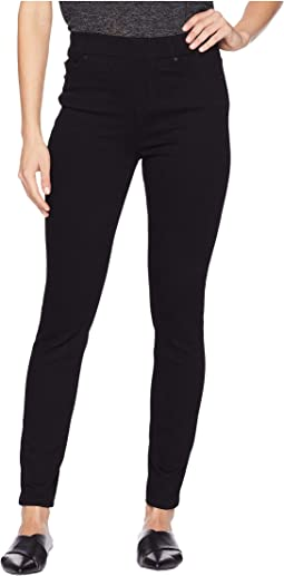 Chloe Ankle Skinny in Silky Soft Stretch Denim in Black Rinse