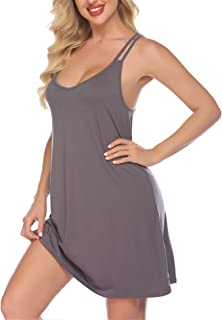 Nightgown for Women V Neck Sleepwear Spaghetti Strap...