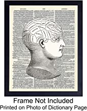 Phrenology Upcycled Dictionary Wall Art Print - Vintage 8x10 Unframed Photo - Great Gift for Steampunk and Human Anatomy Lovers - Cool Home Decor